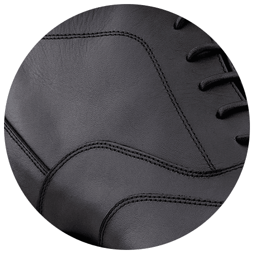 detail black true leather shoes - Guidomaggi Switzerland
