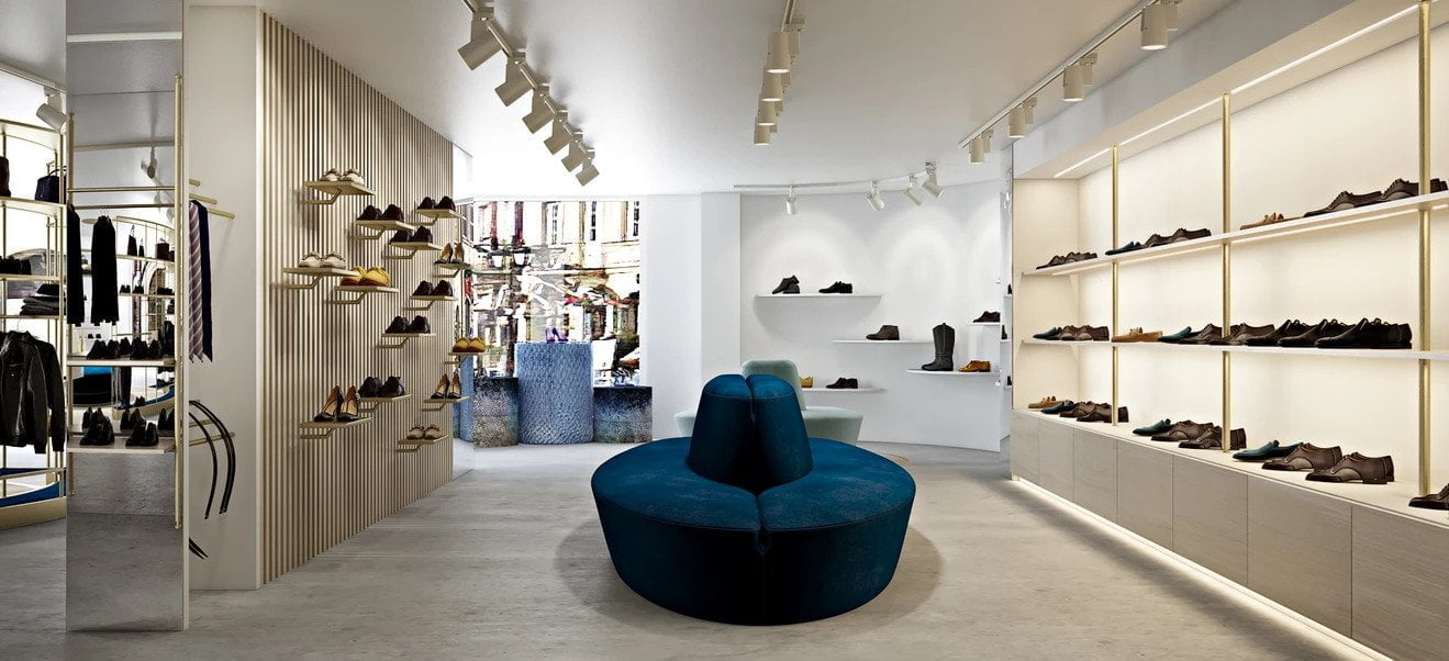 shoes boutique interior design - Guidomaggi Switzerland
