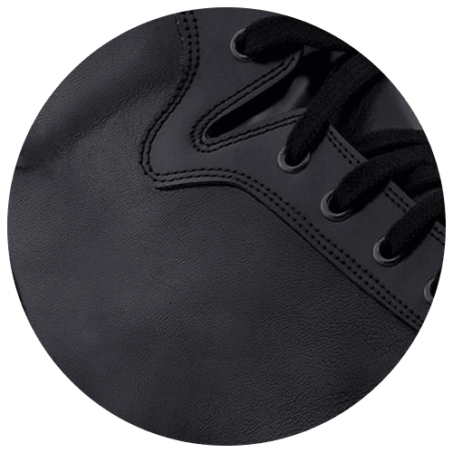 detail black leather sneakers - Guidomaggi Switzerland