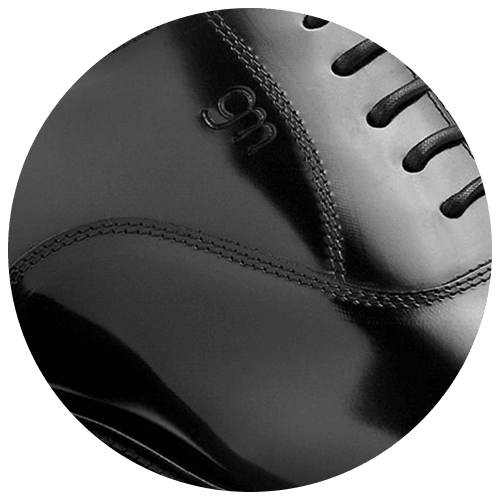 detail black shiny men's oxford shoes - Guidomaggi Switzerland