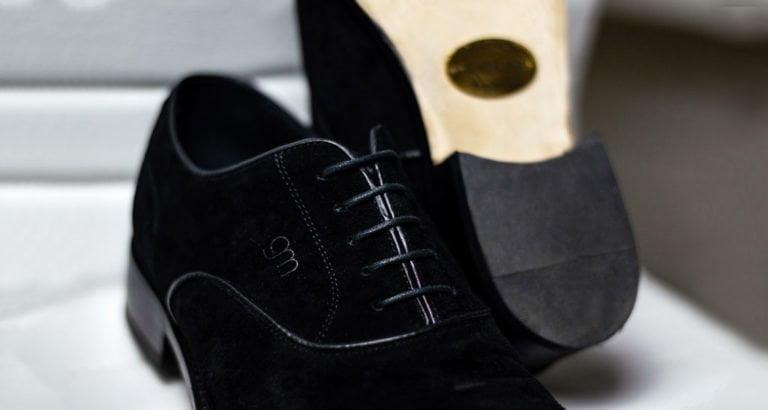 Black velvet men elevated shoes - Guidomaggi Switzerland