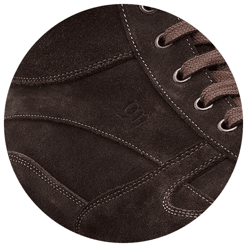detsil suede deep brown shoe - Guidomaggi Switzerland