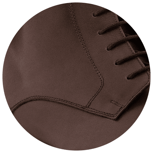 detail brown leather men's shoes - Guidomaggi Switzerland