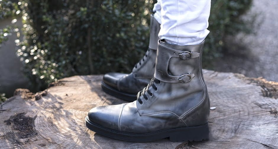heigh grey boots shoes - Guidomaggi Switzerland