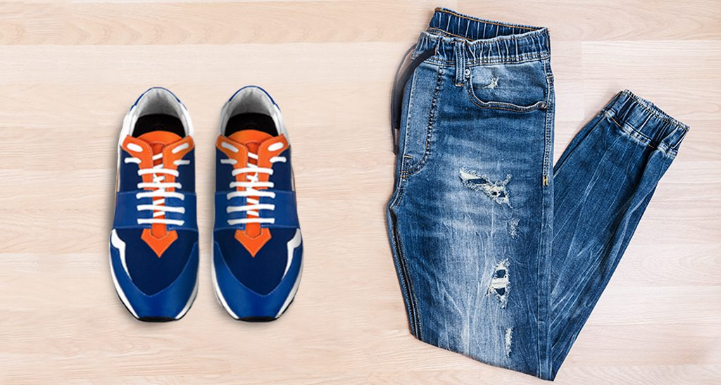 elevator shoes and jeans outfit - Guidomaggi Switzerland