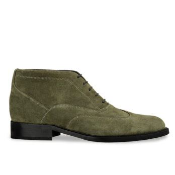 green suede derby ankle boots 5