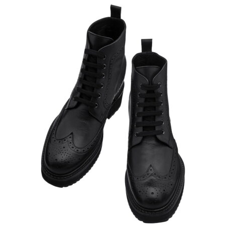 Klassische schwarze Borgue-Stiefel Vollnarbiges Leder 2