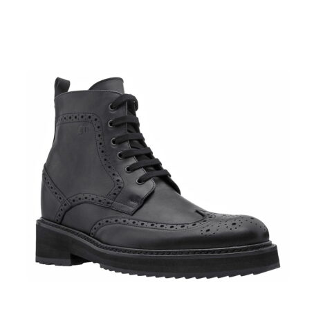 Klassische schwarze Borgue-Stiefel Vollnarbiges Leder 1