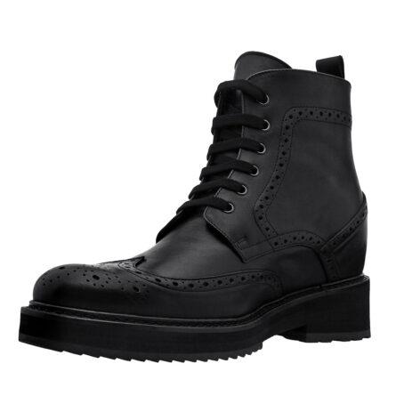 Klassische schwarze Borgue-Stiefel Vollnarbiges Leder 3