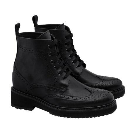 Klassische schwarze Borgue-Stiefel Vollnarbiges Leder 4