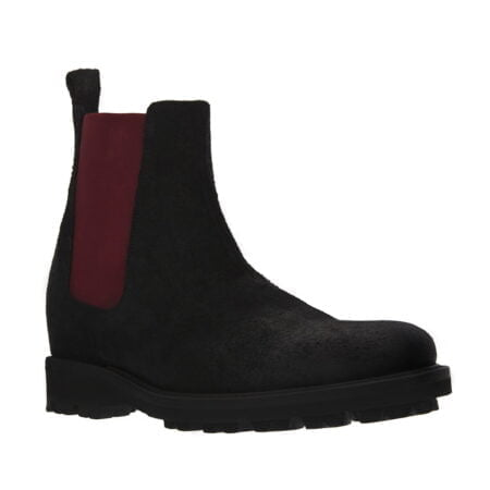 black and red suede chelsea boots 5