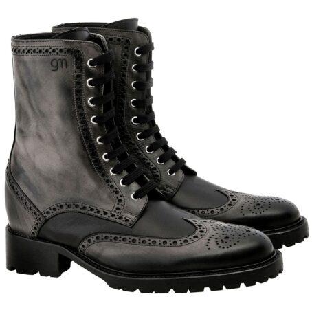 stivale nero rialzato guidomaggi scarpe italiane