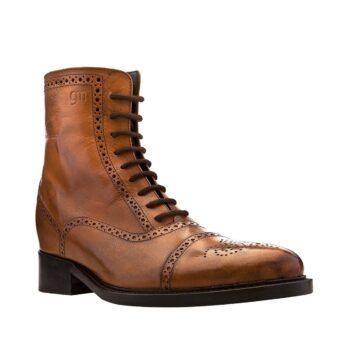 patina brown elegant boots 5