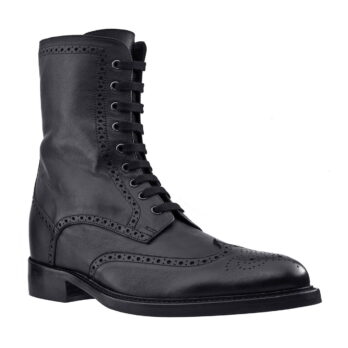 black leather brogue boots 5