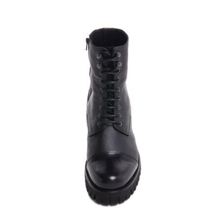 schwarze Lederstiefel mit Absatz und Vollnarbiges Leder GuidomaggiSchweiz 4