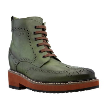 green brogue boots 5