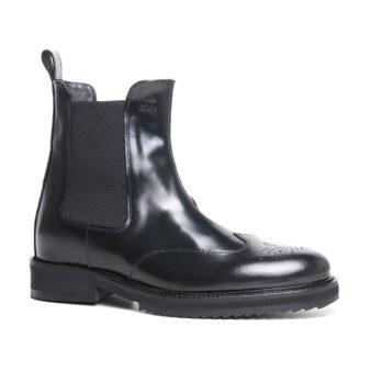 brogue black chelsea boots 4