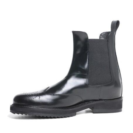 brogue black chelsea boots 2