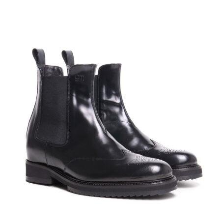 brogue black chelsea boots