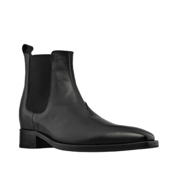 black shiny chelsea boots 5