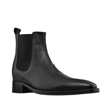black shiny chelsea boots 5