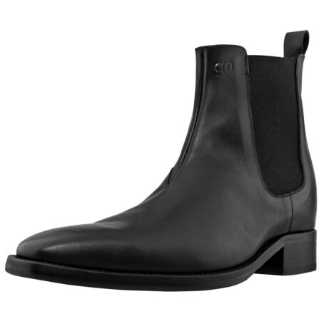 black shiny chelsea boots 4