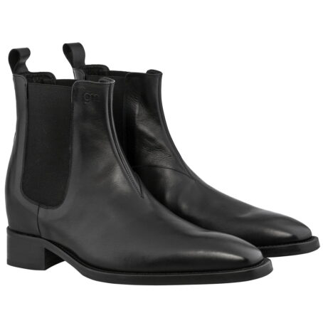 black shiny chelsea boots 2