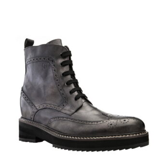 grey combact boots 6