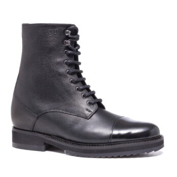 black textured leather boots 5
