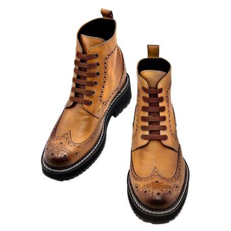 patina cognac boots 4