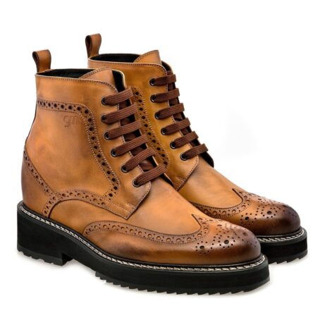 patina cognac boots
