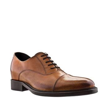 Mittelbraune Derby-Schuhe Qualitätsmerkmale Vollnarbiges Leder 1
