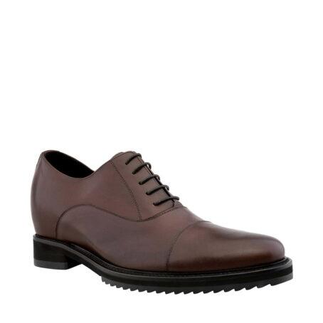 scarpe derby in pelle marrone