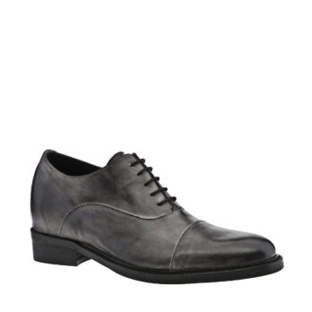 dark grey leather elegant shoes 5