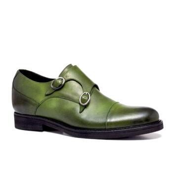 scarpe uomo verdi in vera pelle