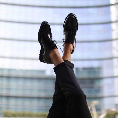 Chaussured de ville en veau noir brillant 5