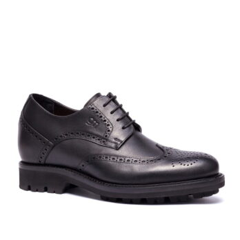 black leather bourgue lace up dress shoes 4