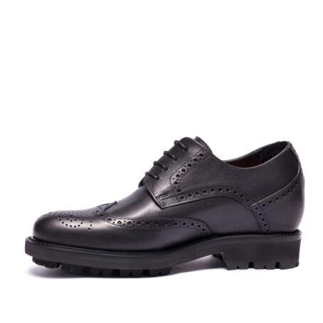 Chaussures de ville en cuir noir pleine fleur fin 3