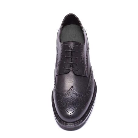 Chaussures de ville en cuir noir pleine fleur fin 4
