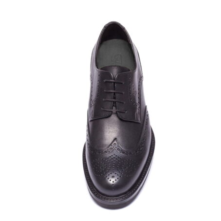 scarpe eleganti da uomo in vera pelle nera