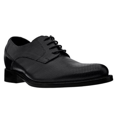 textured black lace up shoes 5
