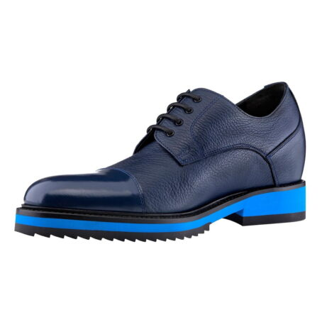 blue textured oxford shoes 3 - Guidomaggi Switzerland