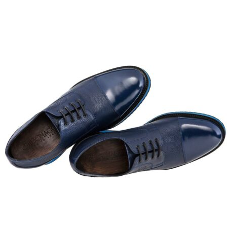blue textured oxford shoes - Guidomaggi Switzerland