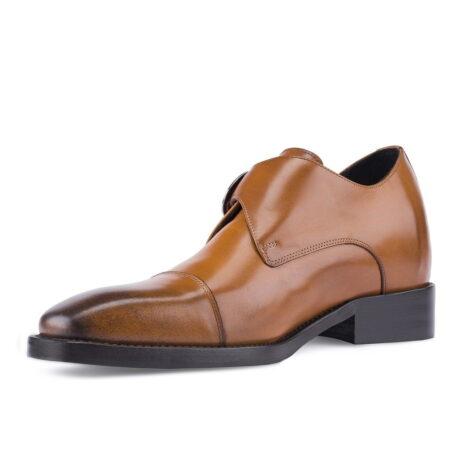 cognac single monk dress shoes 3