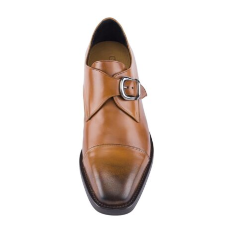 cognac single monk dress shoes 2