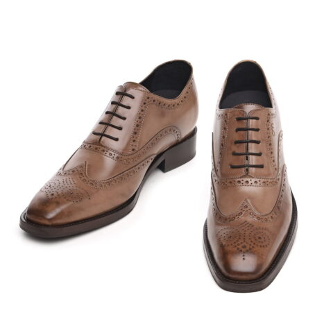 medium brown brogue classic dress shoes 4