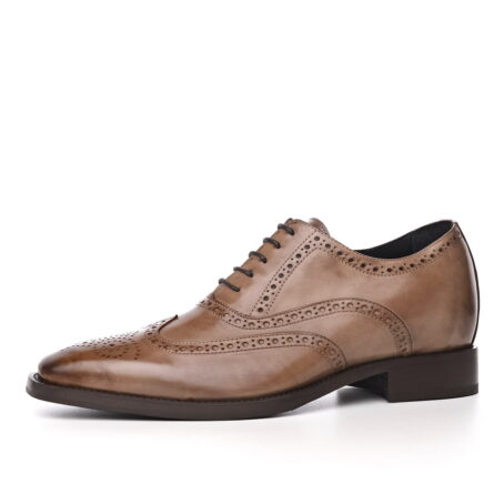medium brown brogue classic dress shoes 3