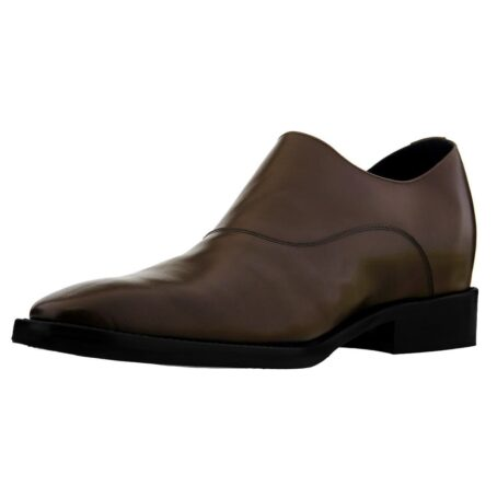 dark brown single monk dress shoes 3