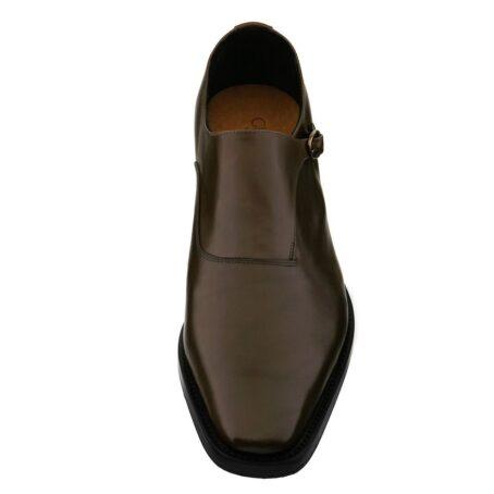 dark brown single monk dress shoes 2