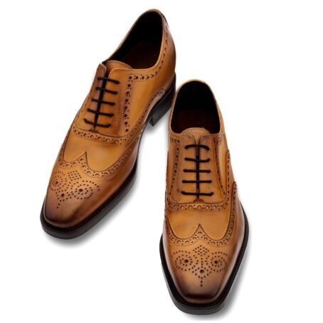 brogue brown dress shoes 4